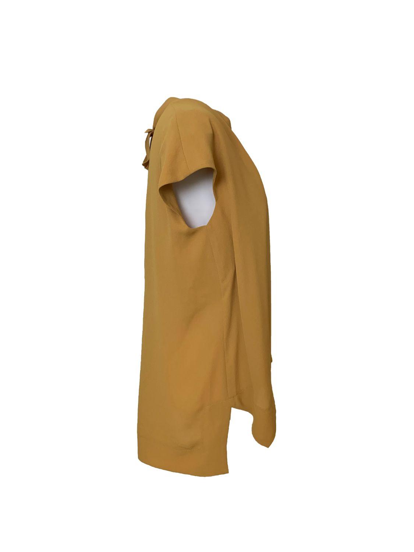 back-ribon  Georgette blouse