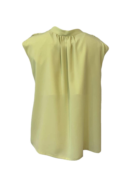 Waffle frilled blouse