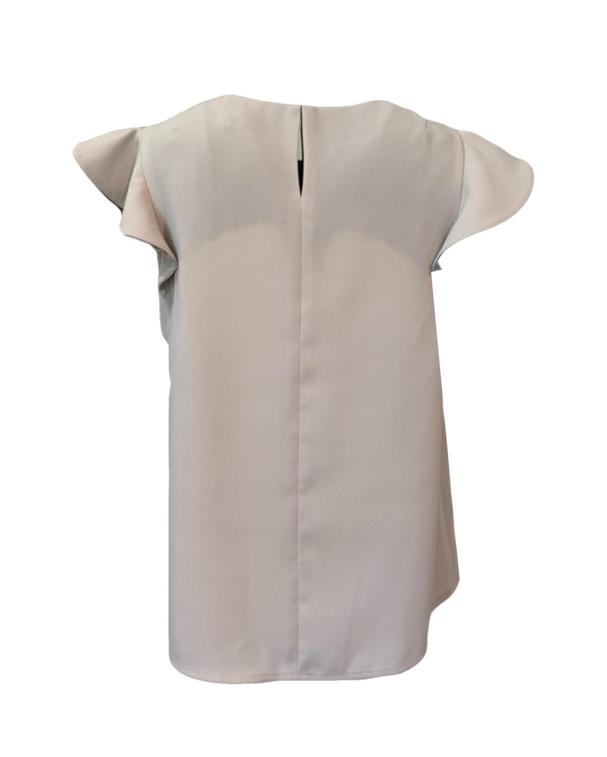 Shoulder frilled blouse