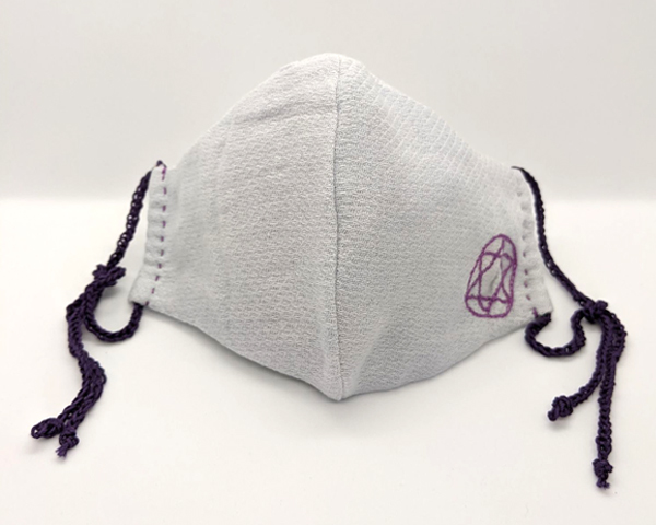 晒のムスカリ花染マスク