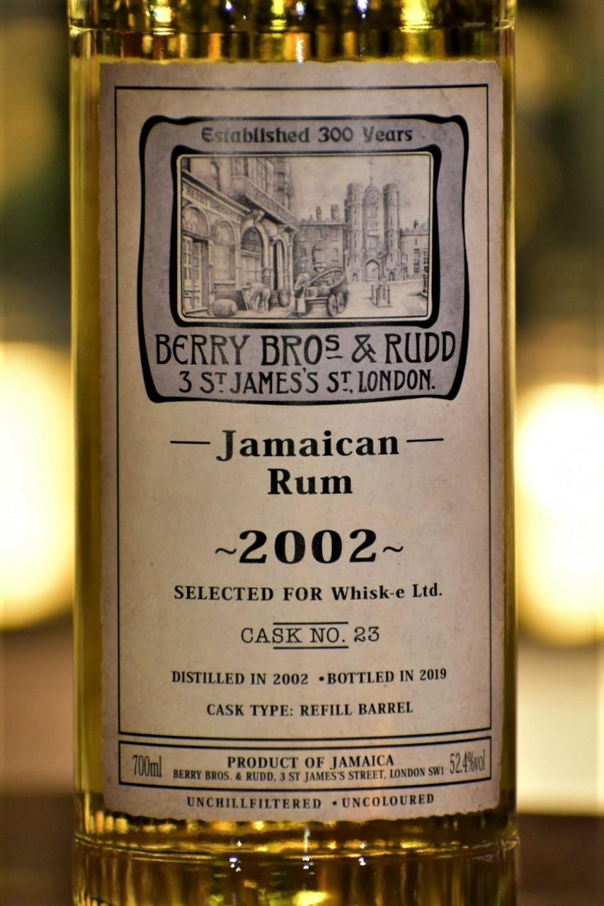 BB&R 復刻ラベル ジャマイカンラム2002