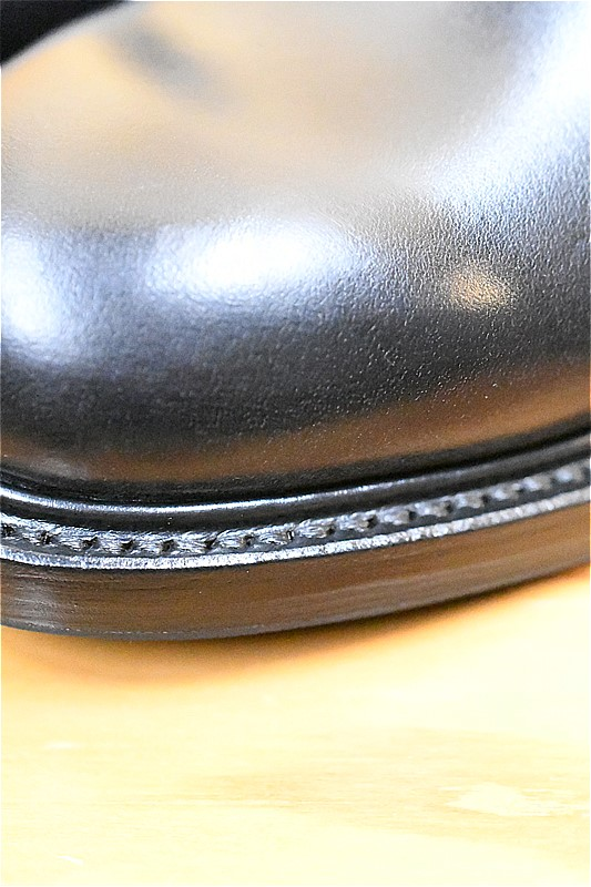 ウィールローブ WHEELROBE #15066 PLAIN TOE BLUCHER ブラック