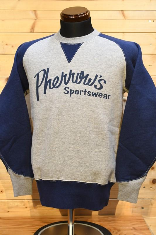フェローズ スウェット PHERROW'S 21W-P.FREEDOM-TWO-TONE-P1 ネイビー