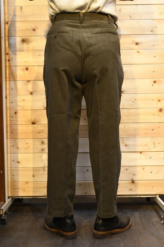 フェローズ パンツ PHERROW'S 21W-PTTP2 コーデュロイ2タックパンツ 9分丈 オリーブ