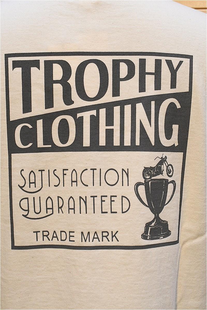 """トロフィークロージング 長袖Tシャツ TROPHY CLOTHING TR21AW-201 / """"Box Logo"""" OD L/S Tee ナチュラル"""