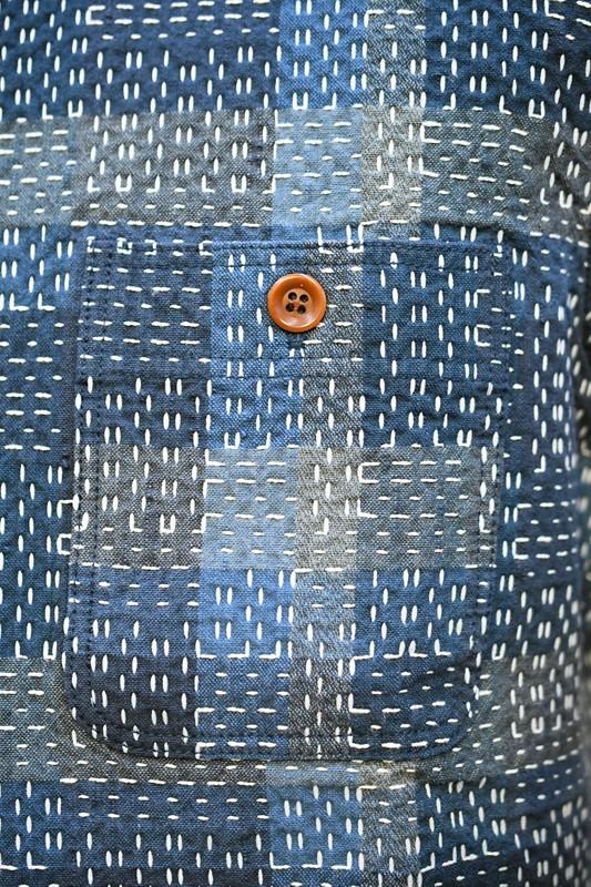 ダルチザン 半袖シャツ STUDIO D'ARTISAN 5657 NORAGI SASHIKO 半袖シャツ