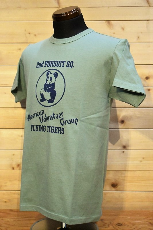 バズリクソンズ Tシャツ BR78776 BUZZ RICKSON'S 2ND PURSUIT サックス