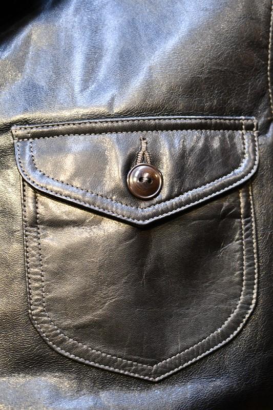 【ご予約商品】ダリーズ レザージャケット DALEE'S TICK.HIDE 10s Sack Jacket ブラック