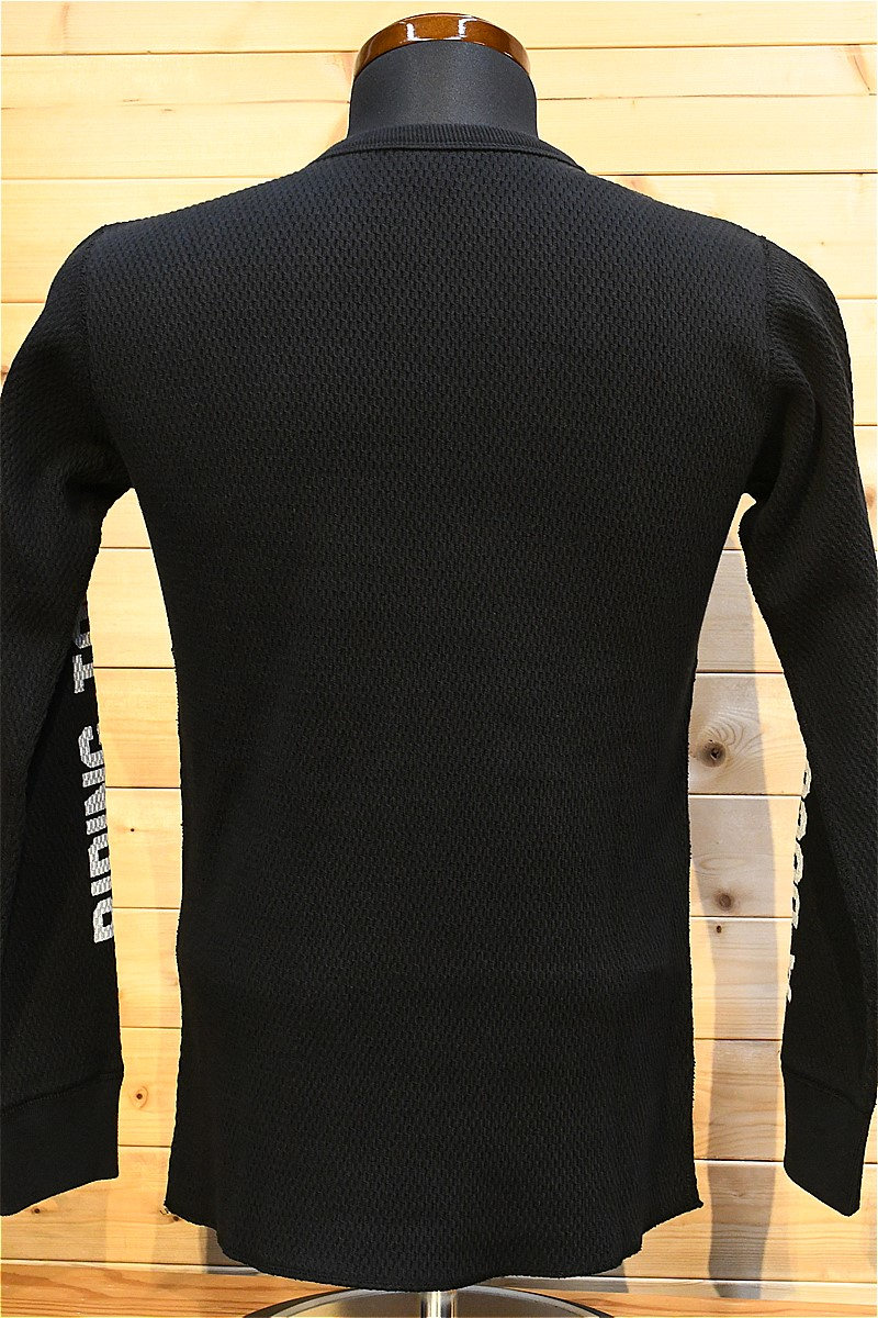 リアルマッコイズ 長袖Tシャツ REAL McCOYS BC21103 BUCO THERMAL / RIDING TOGS ブラック