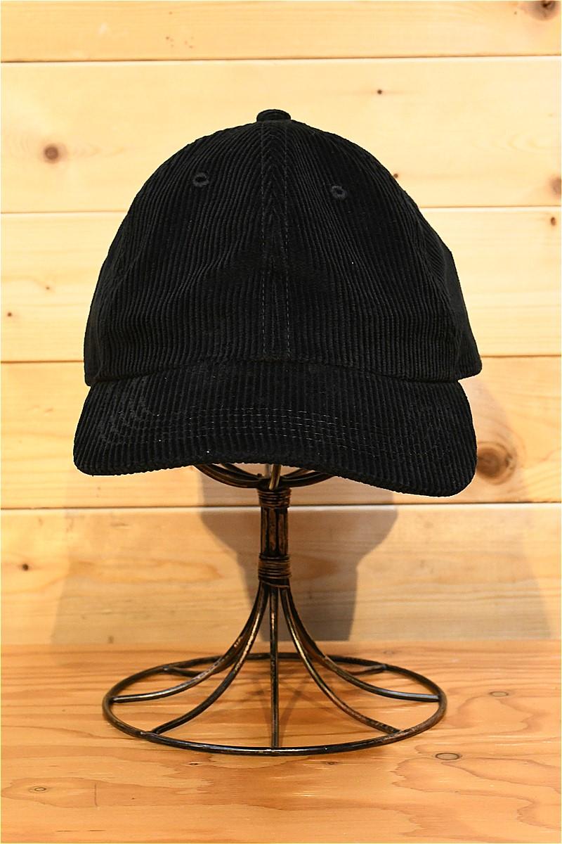 リアルマッコイズ キャップ REAL McCOYS MA21104 CORDUROY BASEBALL CAP ブラック