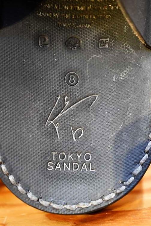 東京サンダル ヒカリトカゲ TOKYO SANDALS TS-K03 HIKARI TO KAGE HORSE BUTT ブラック