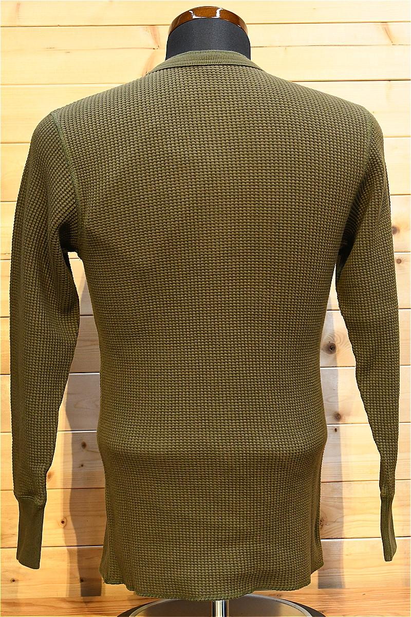 ジェラード 長袖Tシャツ JELADO AB04208 メガサーマル ヘンリーネック オリーブ