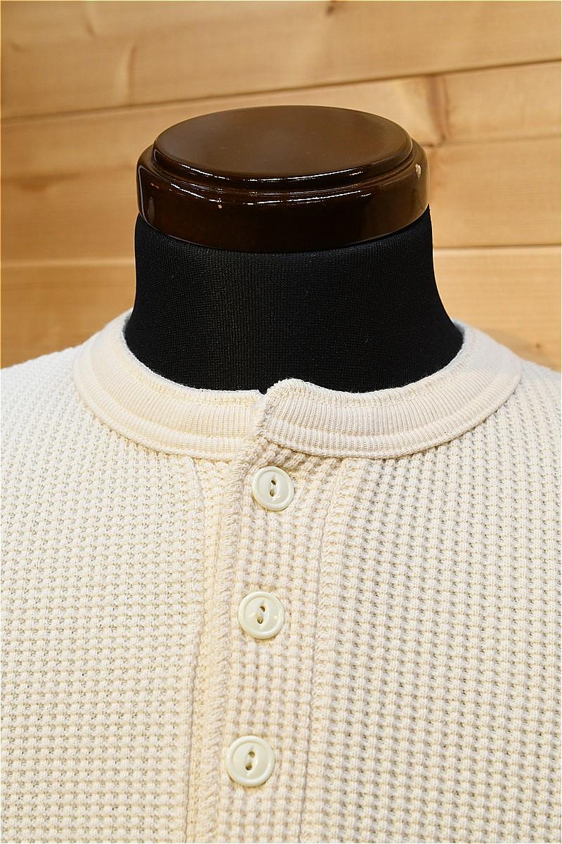 ジェラード 長袖Tシャツ JELADO AB04208 メガサーマル ヘンリーネック バニラ