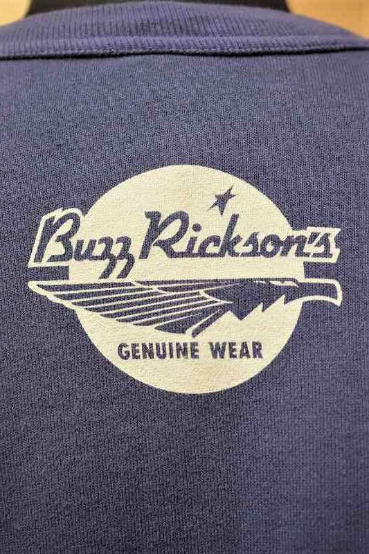 バズリクソンズ BUZZ RICKSON'S × PEANUTS BR68597 クルーネックスウェット SET-IN CREW SWEAT USAF ネイビー