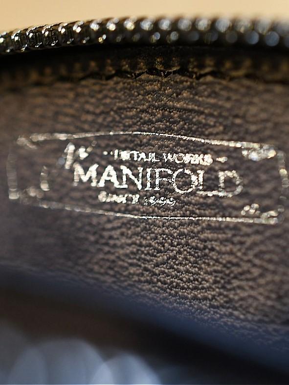 マニフォールド  MANIFOLD MW-12 ラウンドファスナー カードケース BKV ブラック ヴィンテージ