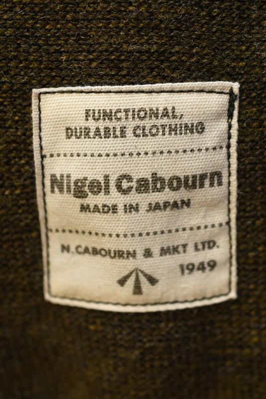 ナイジェル ケーボン 長袖Tシャツ Nigel Cabourn 8043-00-40000 4WAY ハイネック ニット グリーン