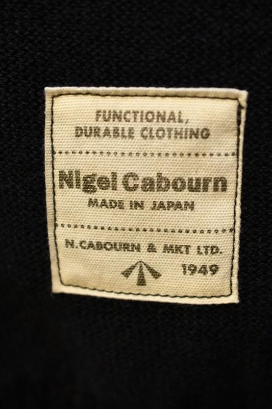 ナイジェル ケーボン 長袖Tシャツ Nigel Cabourn 8043-00-00050 4WAY ハイネック ニット ネイビー