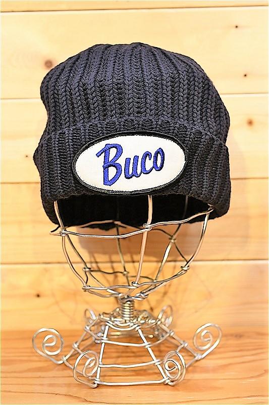 リアルマッコイズ ワッチキャップ REAL McCOYS BA21103 BUCO MECHANIC CAP / LOGO ロゴウールニットキャップ ネイビー