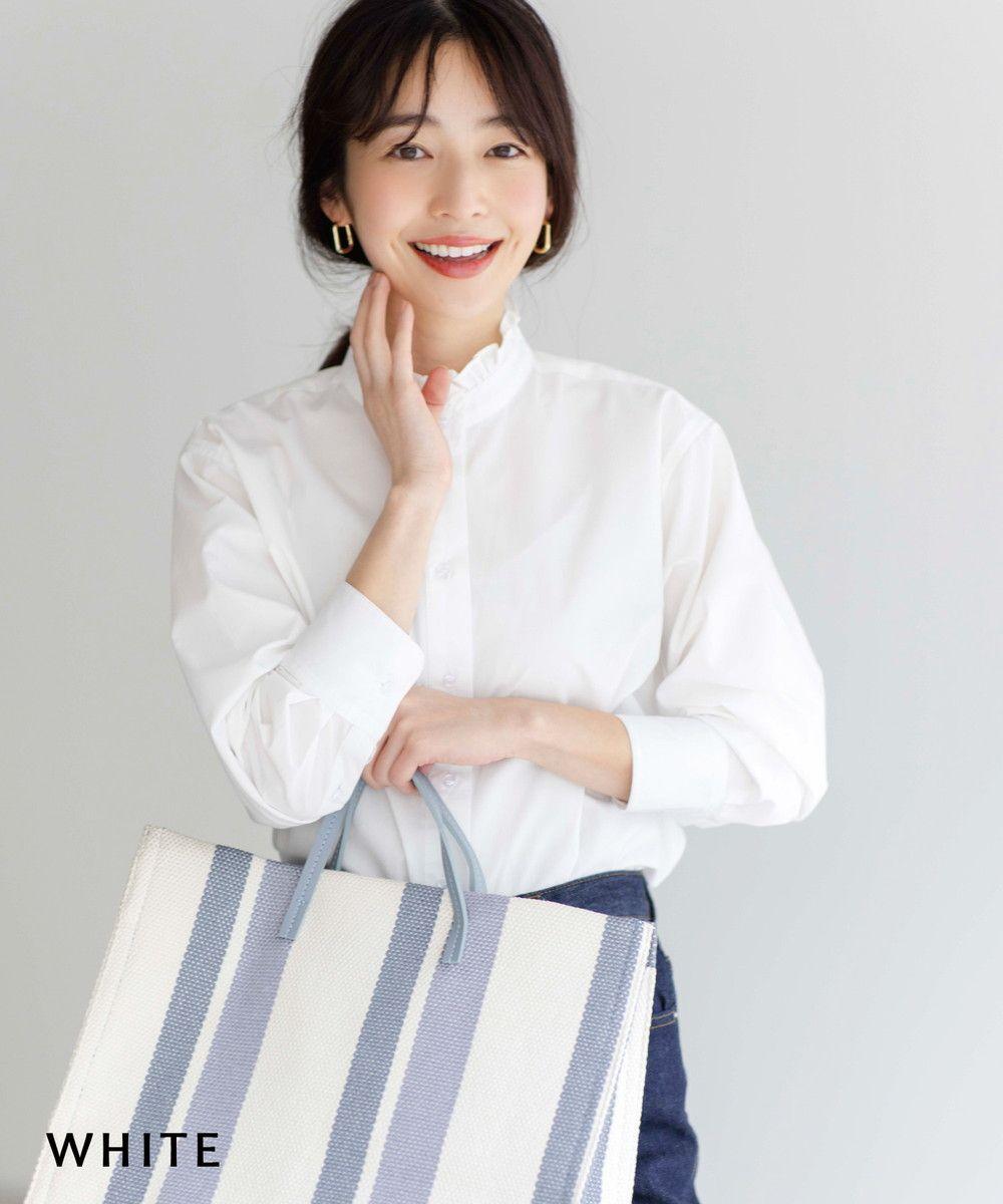 フリル襟シャツ【宅配便】【BO2021SS】
