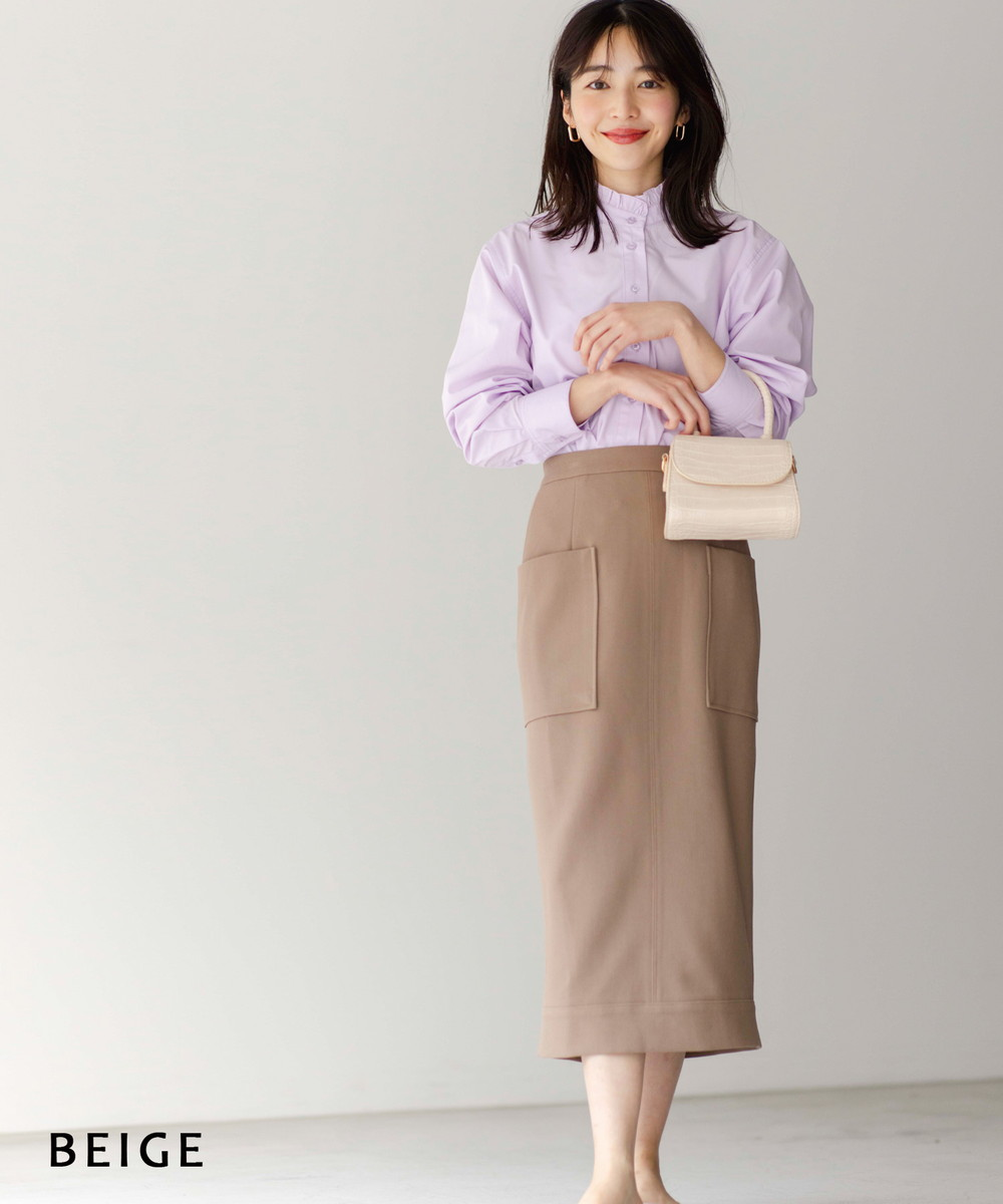 ビッグポケットタイトスカート【宅配便】【BO2021SS】【500item】