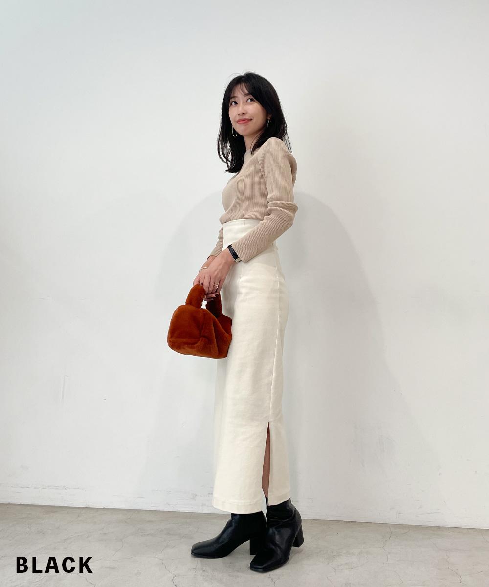 スクエアショートブーツ【宅配便】【BO2021AW】shoes