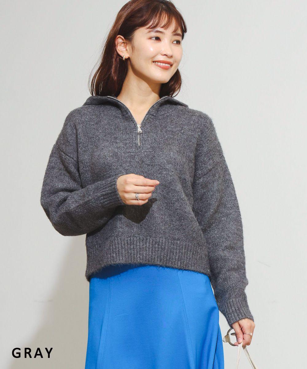 ハーフジップニットパーカー【宅配便】【BO2021AW】