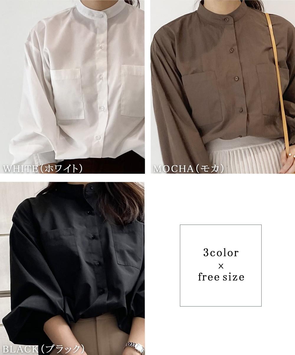 スタンドカラーシャツブラウス【宅配便】【BO2020AW】