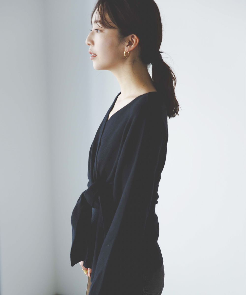 カシュクールニットトップス【宅配便】【BO2020AW】