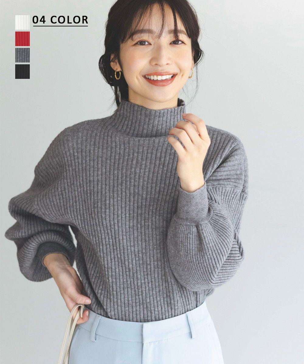 バルーンスリーブハイネックニット【宅配便】【BO2020AW】