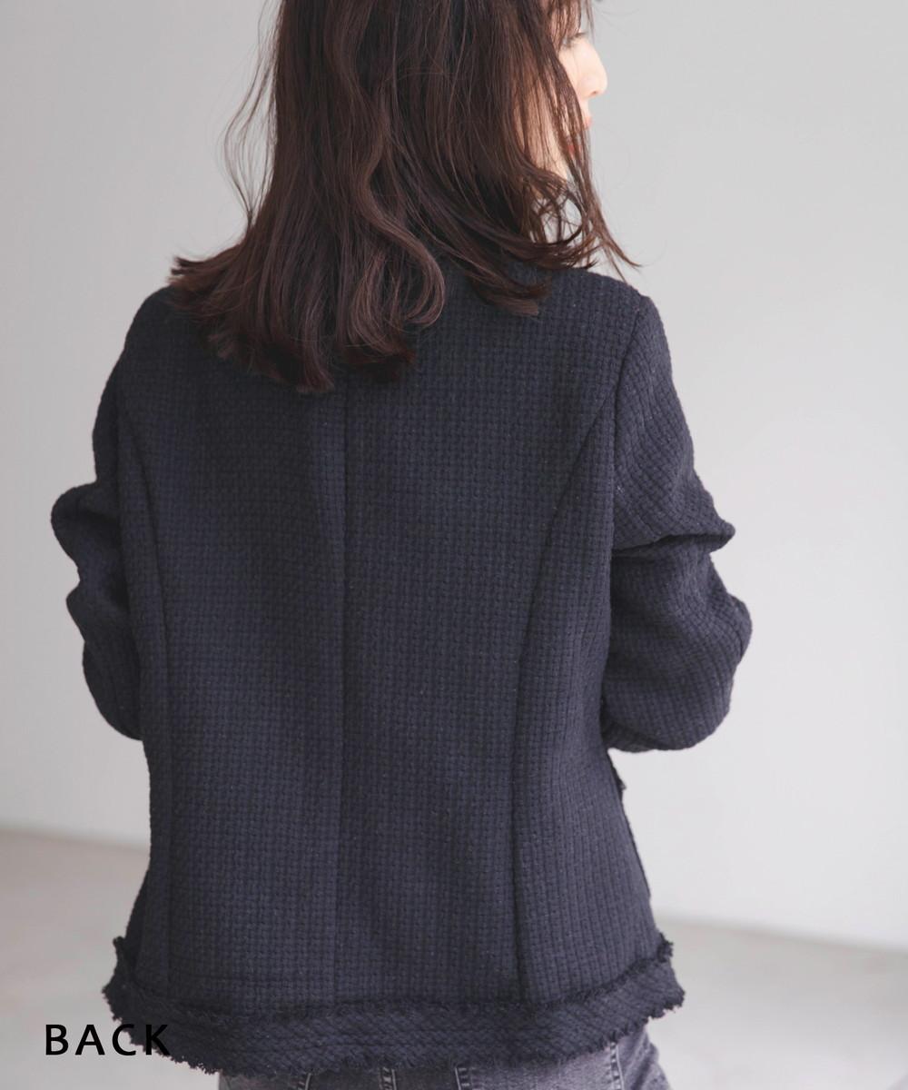 ノーカラージャケット【宅配便】【BO2021SS】