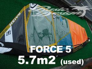 2020 ナッシュセイル フォース5 NAISH FORCE 5 5.7m2  (中古/USW-525)