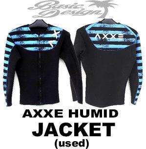 2015 アックス AXXE JACKET ローネックジャケット TZ オプション青黒柄(中古/WET-004)