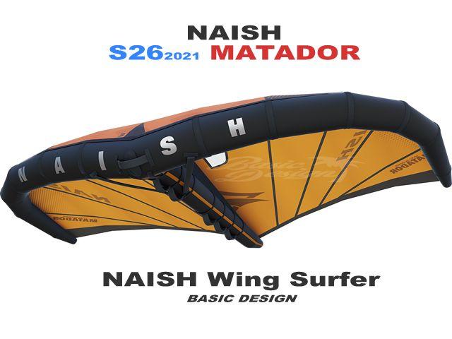 2021 S26 ナッシュ ウイング-サーファー MK3 マタドール NAISH WING-SURFER MK3 MATADOR (new/送料無料)
