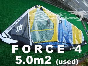 2019 ナッシュセイル フォース4 NAISH FORCE4 5.0m2 (中古/送料無料/USW-429)