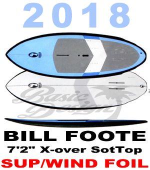 """2018 ビルフット フォイルボード BILL FOOTE 7'2"""" X-over SoftTop  (new/送料無料)"""
