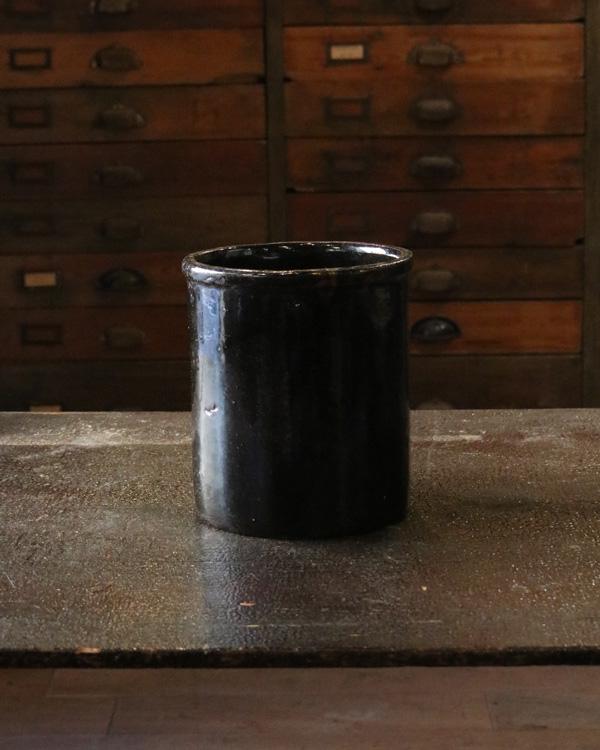 Old Crock Brown A 陶器カトラリー立て Brown A