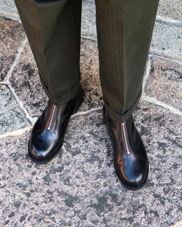 PHIGVEL フィグベル|AVIATOR ZIP BOOTS アビエータージップブーツ【BLACK】