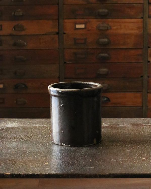 Old Crock Brown C|陶器カトラリー立て Brown C