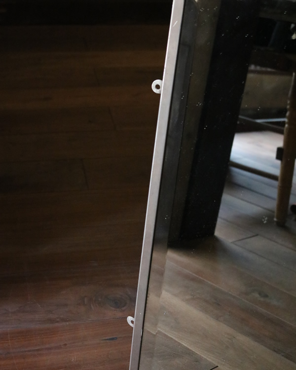 Nickel Plated Beveled Mirror ニッケルフレームのビベルドミラー