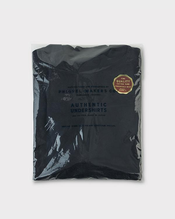 PHIGVEL フィグベル|HIGHNECK LS TEE ハイネックロングスリーブティー【INK BLACK】