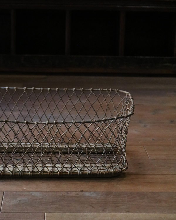 Wire Basket w/runner|ランナー付きワイヤーバスケット
