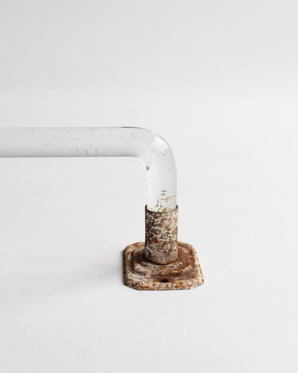 Clear Glass Towel Bar クリアーガラス製のタオルバー
