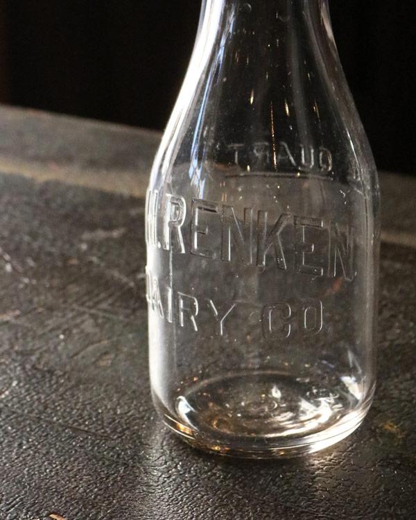 Glass Milk Bottle B|ガラスミルクボトル B