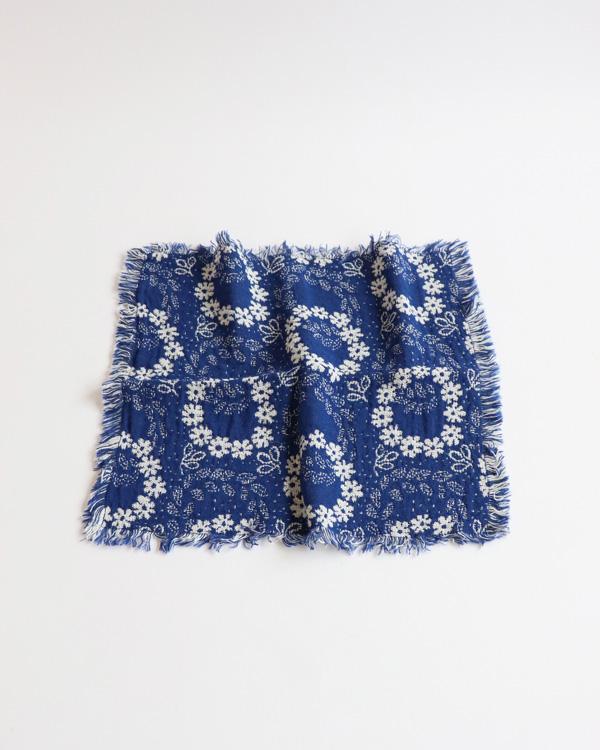 ALDIN アルディン|チェルシーフラワークロス SMALL【BLUE】