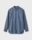 PHIGVEL フィグベル|C/L CHAMBRAY SHIRT コットンリネンシャンブレーシャツ【FADE INDIGO】