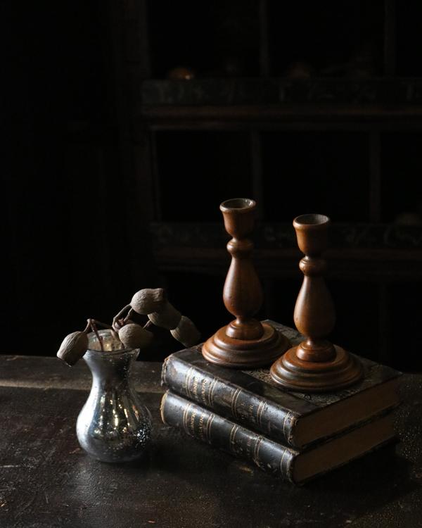 Pair of Wood Candle Stand|木製キャンドルスタンド ペア