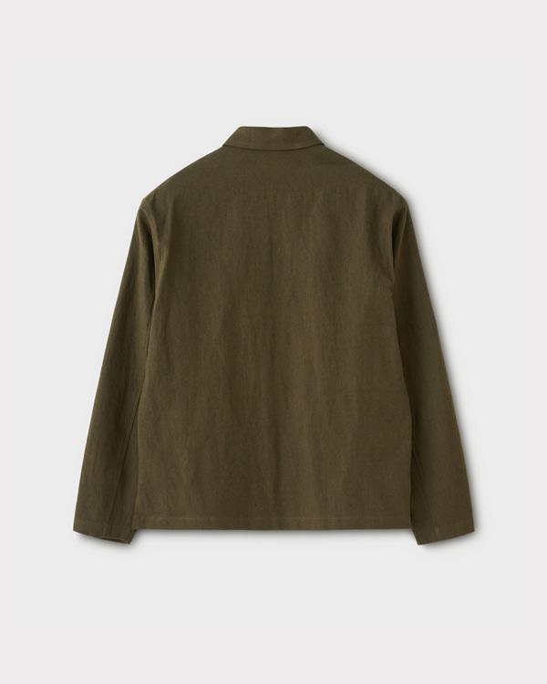 PHIGVEL フィグベル PULLOVER SHIRT JACKET プルオーバーシャツジャケット【DUST OLIVE】