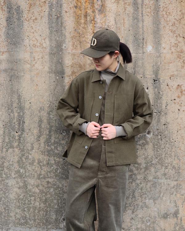 PHIGVEL フィグベル MIL WORK SHIRT JACKET ミルワークシャツジャケット【DUST OLIVE】