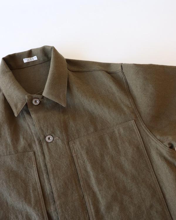 PHIGVEL フィグベル|MIL WORK SHIRT JACKET ミルワークシャツジャケット【DUST OLIVE】