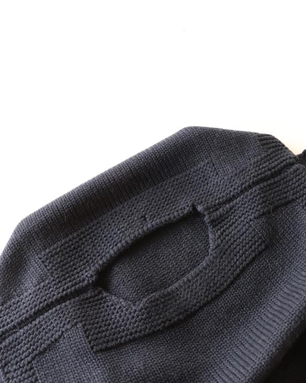 PHIGVEL フィグベル|MIL KNIT VEST ミルニットベスト【NAVY】
